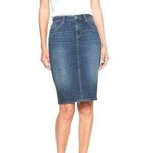 Banana Republic Denim Skirt with Front Slit